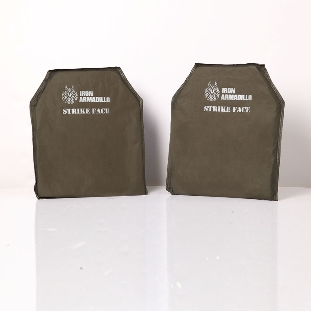 AA Shield Bulletproof Soft Body Armor Plate UHMWPE Core Self Defense Supply Ballistic NIJ Lvl IIIA 11x14 #2 Shooting Cut PairAA Shield Bulletproof Soft Body Armor Plate UHMWPE Core Self Defense Supply Ballistic NIJ Lvl IIIA 11x14 #2 Shooting Cut Pair