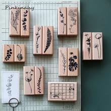 Креативные винтажные растения листья Деревянный штамп DIY деревянные и резиновые штампы украшения для скрапбукинга дневник в стиле Скрапбукинг штамп YZ002