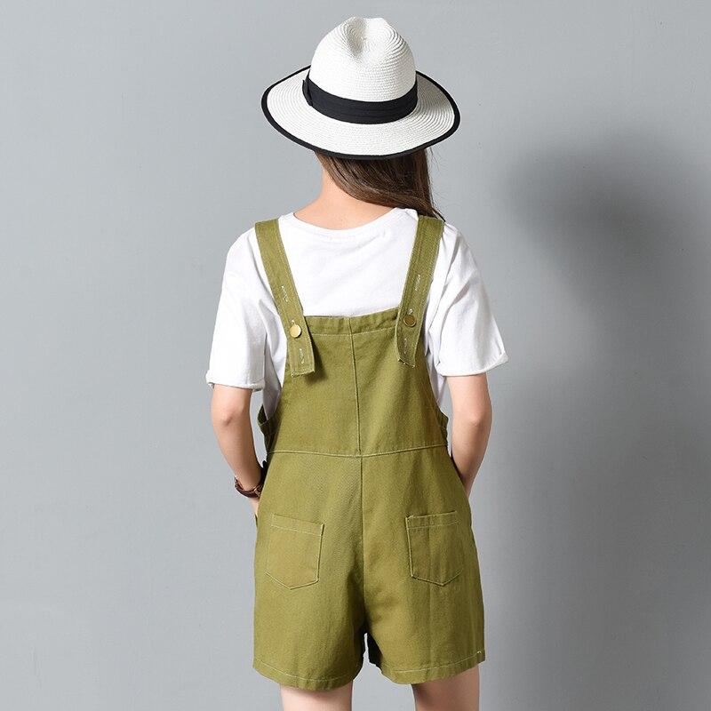 Для женщин комбинезоны Джинсовые комбинезоны 2018 летние Карманы повседневная женская обувь джинсы