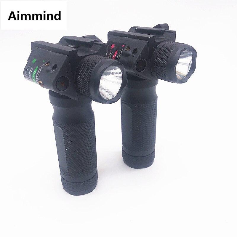 Lampe de poche LED léger dur de poignée avant tactique avec le remplacement vert rouge de Modification de Laser