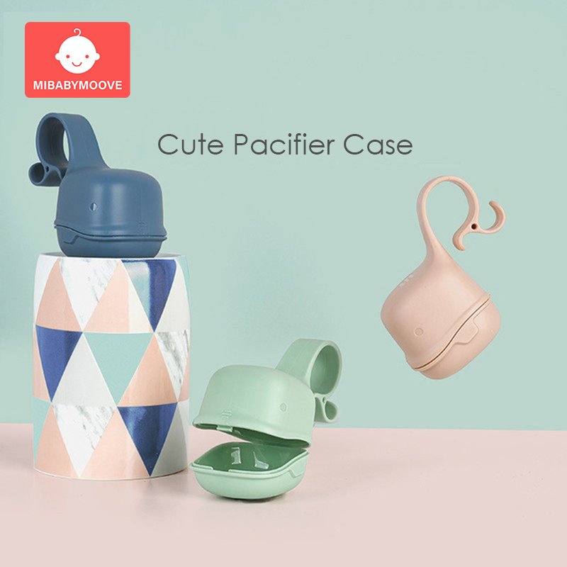 Cute Baby Pacifier Nipple Box Storage Case Infant Portable Travel Soother Holder Newborn Snack Box Clean Carrying Container
