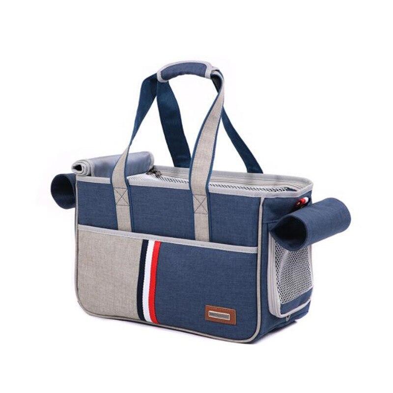 Sac de chien de chat de transporteur d'animal familier vêtements respirants de mode-résistant Oxford tissu confort voyage extérieur Portable slanting span sac à main