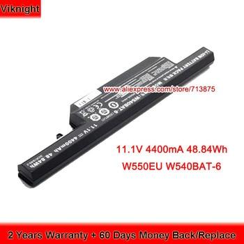 W550EU W540BAT-6 Battery for Clevo W155EU W155U W550SU W550TU 6-87-W540S-427 6-87-W540S-4271 6-87-W540S-4U4 11.1V 48.84Wh