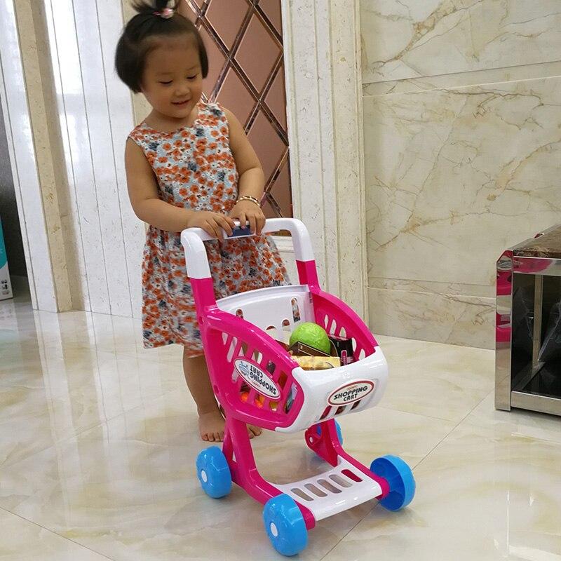 Bébé poupée poussette enfants panier jouet supermarché chariot émulation reine bébé garçon filles jouer maison mini chariot chariot