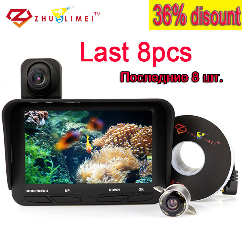 ZLM Video Recoding Fish Finder Camera Dual Cam Underwater Fishing Cameras Infrared 6pcs Led Fishcam For Ice Fishing DVR Kamera цена