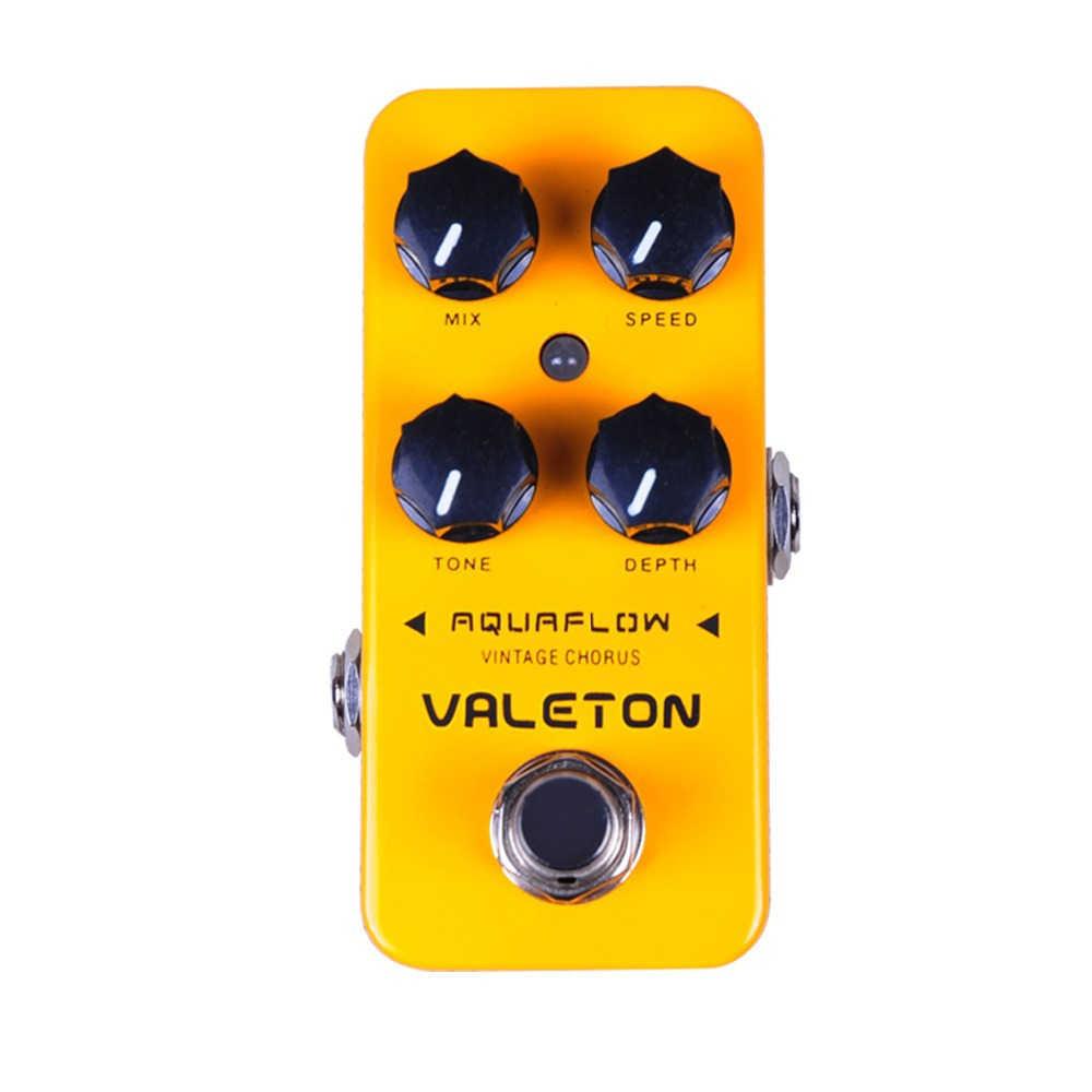 Valeton Aquaflow Guitar Effect Pedal BBD Chip Ture Bypass Lush Warm Tone Amplifier CCH-1 valeton katfish guitar effect auto wah pedal highly accurate pristine tone true bypass caw 1