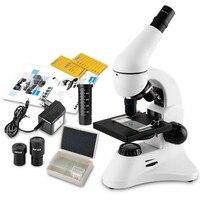 Top Kalite Profesyonel Monoküler Biyolojik Mikroskop, 40X-1600X Büyütme Tam Metal Yapısı Laboratuvar Öğrencileri Hediye