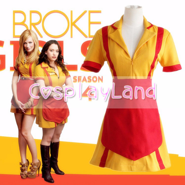 2 Broke Girls Max Caroline French Maid Uniform Cosplay Costumes Waitress Overall Apron Dress Halloween Costume  sc 1 st  AliExpress.com & 2 Broke Girls Max Caroline French Maid Uniform Cosplay Costumes ...