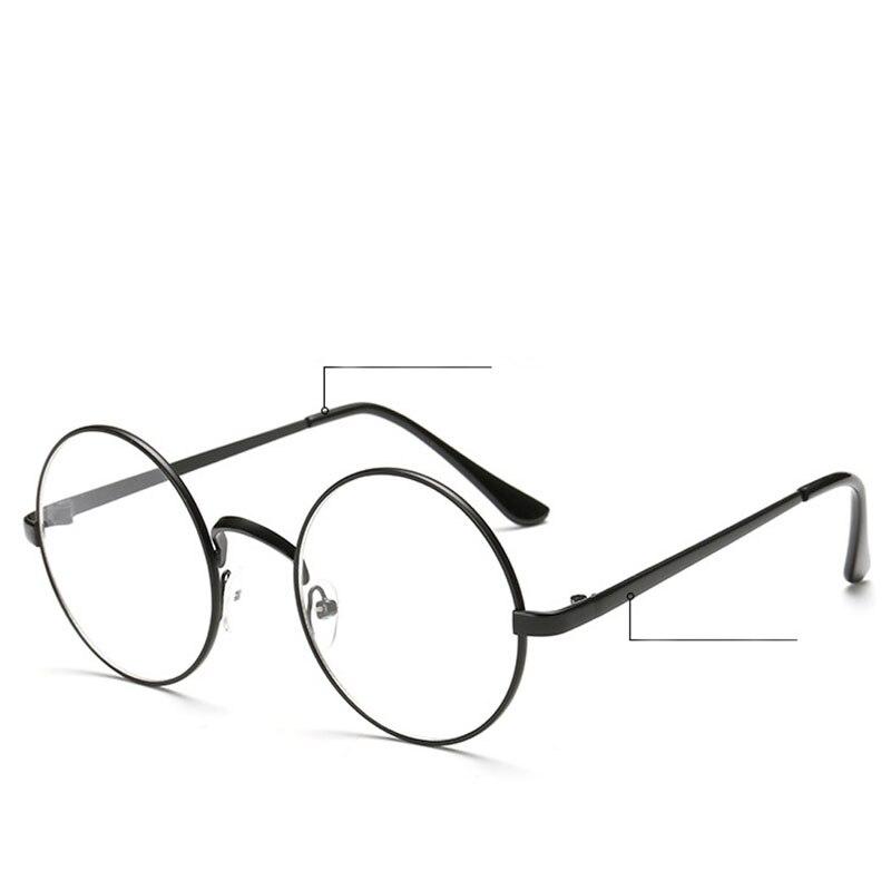 Big Frame Clear Lens Glasses : Aliexpress.com : Buy Chic Eyeglasses Retro Big Round Metal ...