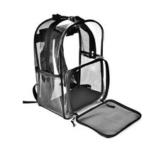 Transparent Pet Backpack Carrier Bag Cat Small Dog Breathable Mesh Window for Travel Walking Hiking Camping