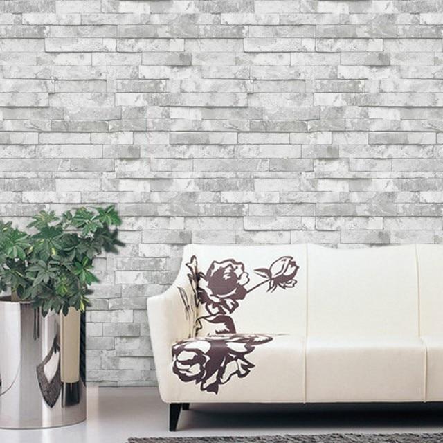 Cuisine Fond Revêtement Mural Conception Brique Pvc Papier Peint