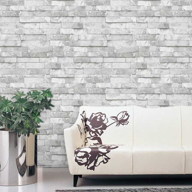 Kitchen Background Wallcovering Design Brick PVC Wallpaper Vinyl 3D Effect  Brick Wall Paper Bathroom,Dinning Room Decorative