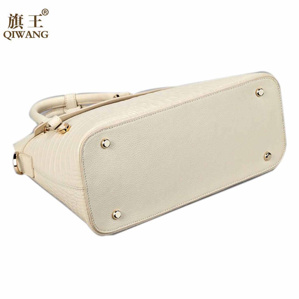 ae9eaa1cbaa Hot Big Luxury Crocodile Women Bag Top Handle Bags Brand Women Designer  Handbags 100% Genuine Leather Female Bag