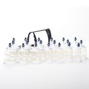 Image 5 - Puszki próżniowe zestaw przyssawki masaż Ventouse antycellulitowy zestaw do baniek Bank fizykoterapia słoiki Acupunture relax 19 sztuk/zestaw