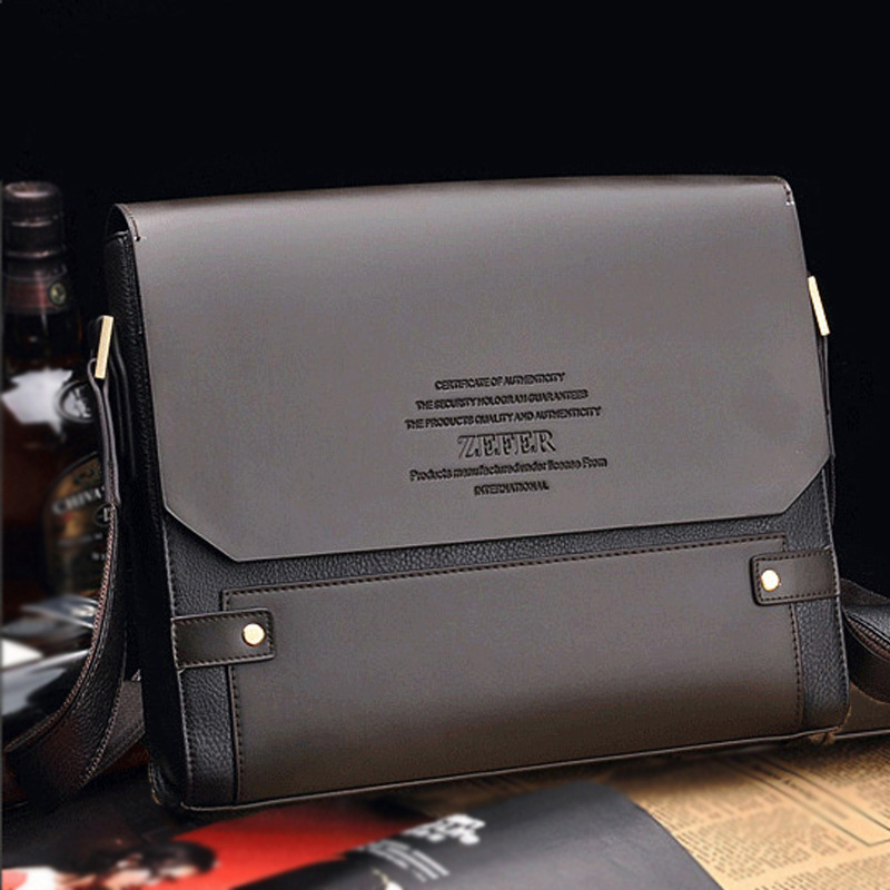 Vintage Men Shoulder Bag PU Leather Flap Top Casual Business Briefcase Supply Classic Men's Bag Ou Natural Detox Bao Flap Genuin