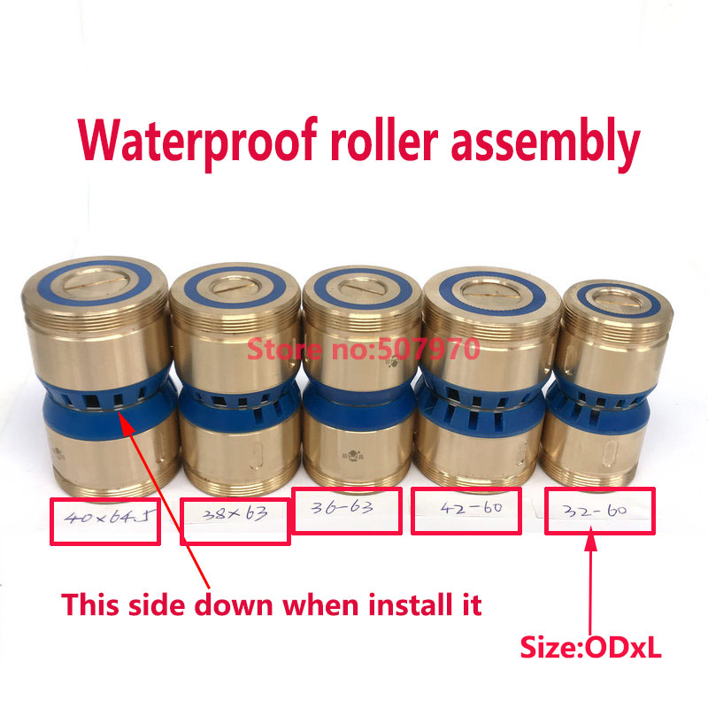 EDM Parts Waterproof Pulley Guide Wheel Roller Assembly OD32*60mm Length For EDM Wire Cut Machine