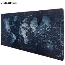 JIALONG черный карта мира коврик для мыши Нескользящий Резиновый Muismat игровой коврик для мыши 90*40 см большой скоростной коврик для мыши Коврик для Mause Pad Gamer