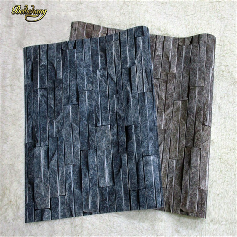 beibehang color 3d wall paper modern pvc wallpaper stone Stacked background 3D wallpaper brick for living room Papel De Parede