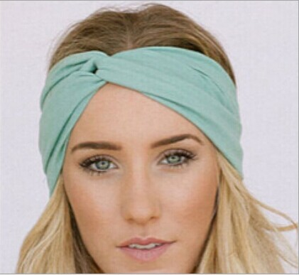 High quality Solid Knot Headbands Turban 50 14cm Sport Head Wear Turbante  Hairbands Hair Accessories For Women Free Shipping ff711ef726c
