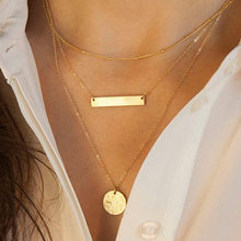 Ожерелье чокер золотистого цвета женское цепь с металлической