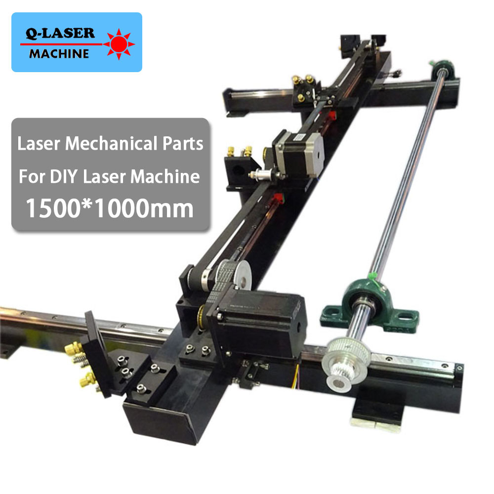 diy laser mechanical spare cutter kit 1500*1000mm whole set co2