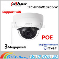 Original Dahua 3MP IPC HDBW1320E W Dome IP Camera Wifi Network IR Security Cctv Dome IP