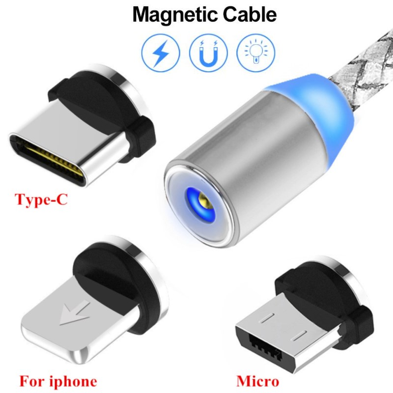 Magnetic Charge Cable Data Sync Cable for iphone X Huawei P30 <font><b>Lite</b></font> <font><b>Honor</b></font> 10 10i 20i 8A Samsung S10 Note 8 <font><b>9</b></font> A90 A80 A70 A50 A30 image