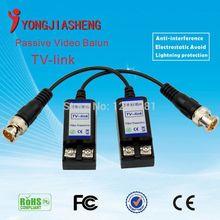 5pairs Freeshipping Twisted BNC CCTV Video Balun passive Transceivers UTP Balun BNC Cat5 CCTV UTP Video Balun