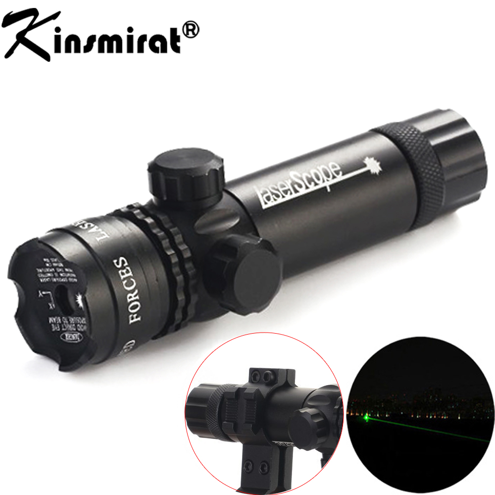Green Laser optical Sight Scope With Mount for Pistol Rail and Rifle For Airsoft Gun riflescope Hunting Shooting 11 /20mm