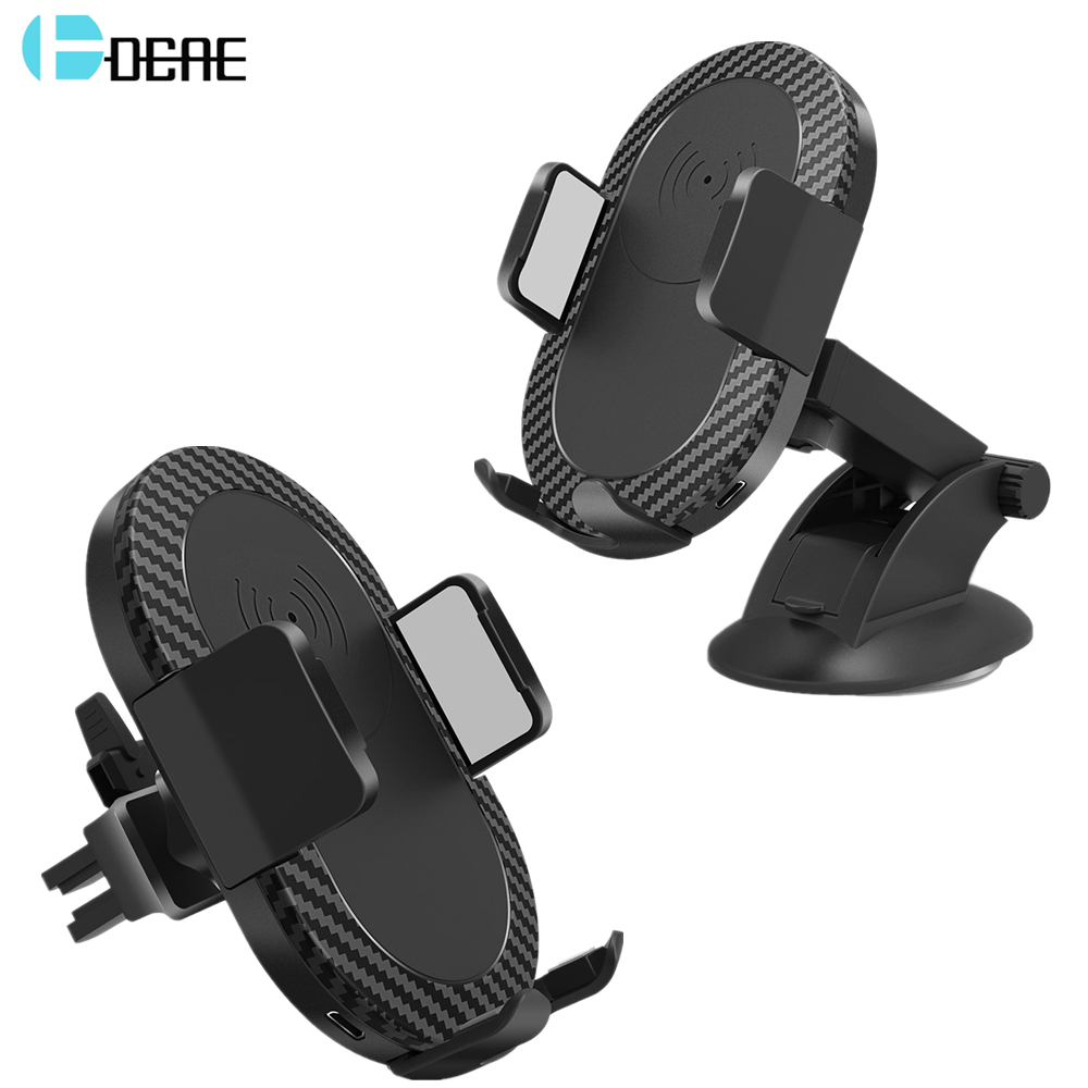 DCAE Car Wireless Charger For iPhone XS Max XR X 8 Car Air Vent Holder Mount Qi Wireless Charging Pad For Samsung S9 S8 Note 9 8