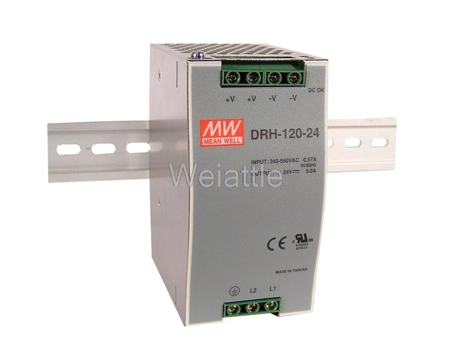 MEAN WELL original DRH-120-24 24V 5A meanwell DRH-120 24V 120W Single Output Industrial DIN RAIL Power SupplyMEAN WELL original DRH-120-24 24V 5A meanwell DRH-120 24V 120W Single Output Industrial DIN RAIL Power Supply