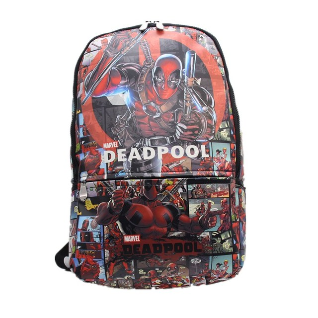 New Deadpool Backpack Colorful Laptop Backpacks Uni Student School Bags Bookbag Travel Bag