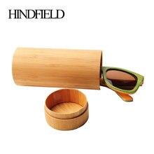 Мода HINDFIELD 100/% натуральный ручной работы круглый бамбуковый футляр для солнцезащитных очков Деревянный Чехол для очков футляр для очков Чехол для очков