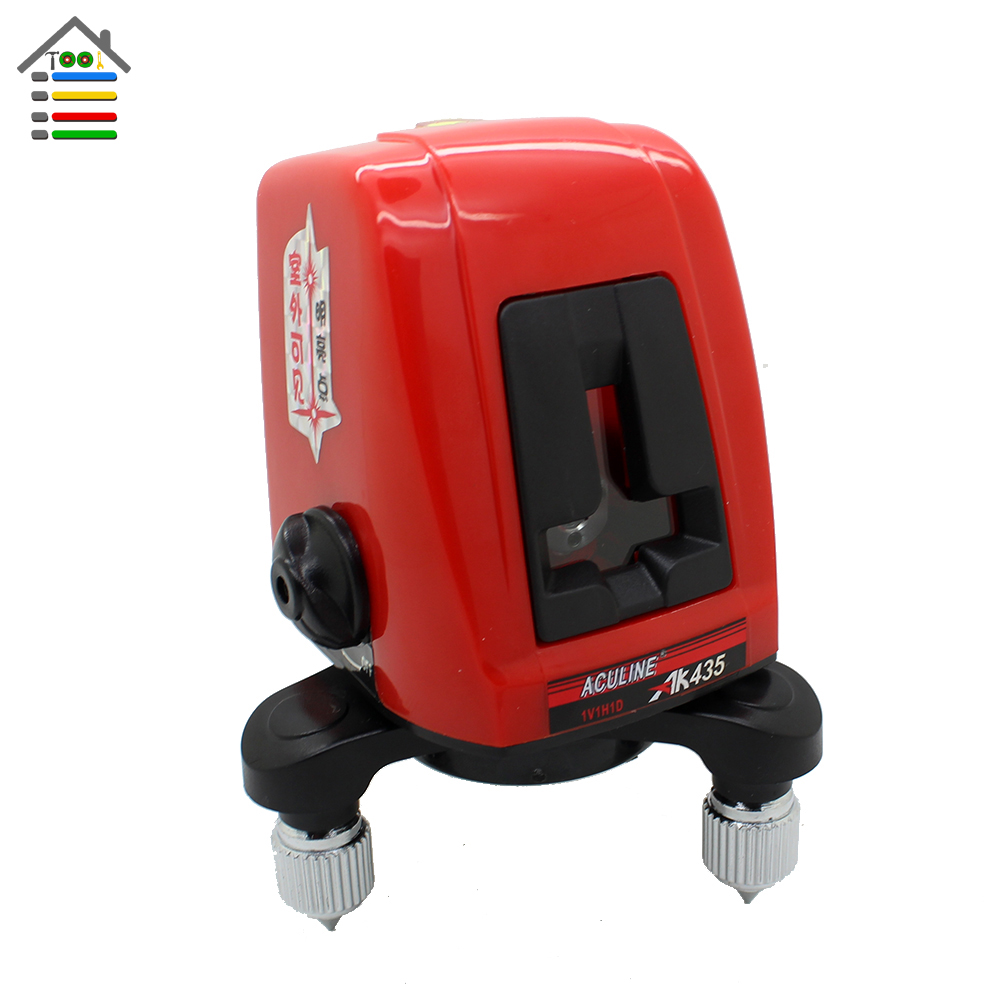 ФОТО 360 Degree Rotary Self leveling Cross Laser Level Leveler 2 Line 1 Point with Case AK435 Red Beam Diagnostic Tool