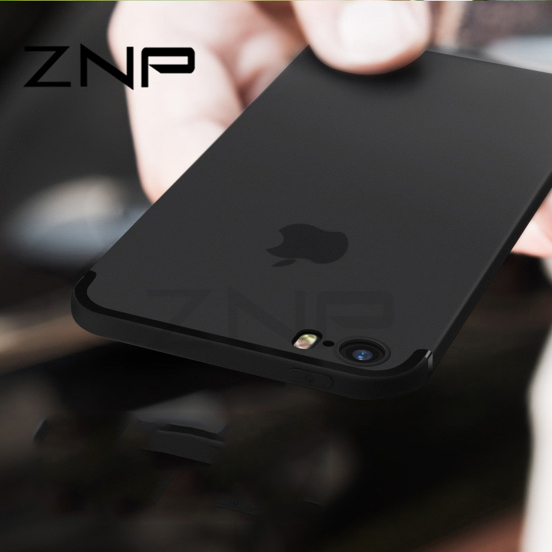ZNP Luxury Back Matte Soft Silicone TPU Case For IPhone 6 6s 7 Plus 8 Cases Full Cover