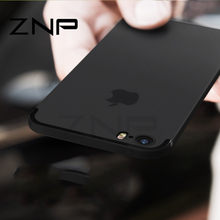 ZNP de lujo mate de silicona suave TPU carcasa para iPhone 6 6s 7 Plus 8 casos Full funda para el iPhone 7 8 Plus 6 6s Phone Case p30(China)