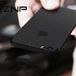 Znp luxo voltar matte macio silicone tpu caso para iphone 6 6s 7 plus 8 casos capa completa para iphone 7 8 plus 6s caso de telefone p30