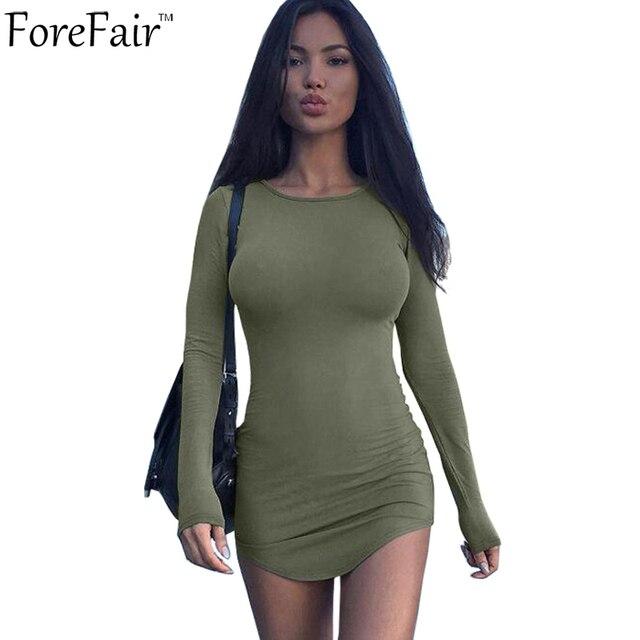7de5e13e95 Aliexpress.com : Buy Forefair S 2XL Casual Slim Mini Dress Women ...