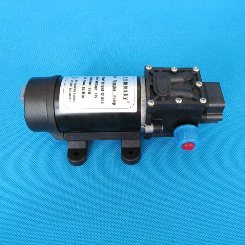 8L/Min 80 W 12 V DC pompe d'aspiration d'huile à haut débit pour essence, diesel, kérosène, huile moteur - 3
