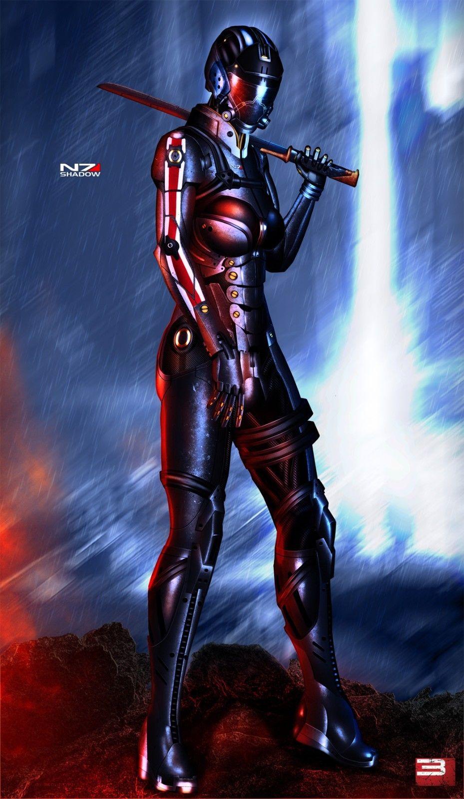 Mass Effect 3 4 Game Space War Fabric poster 21x 13 Decor 138