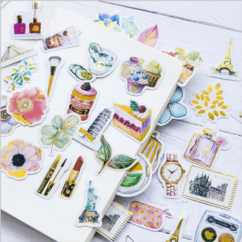 45pcs/lot Original bronzing paper sticker package decoration Stickers Diary Decoration Scrapbooking diy seal Sticker Stationery 45pcs pack kawaii life small things label stickers cute diary decoration scrapbooking diy seal sticker stationery free shipping