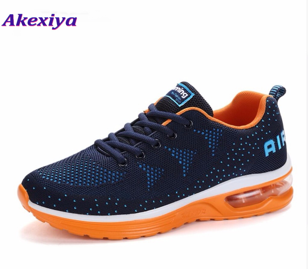 Akexiya New listing hot sales Spring and Autumn Breathable Flying air cushion shoes men and women sneakers running shoes