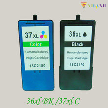 купить 2PK For Lexmark 36 37 Ink Cartridges For Lexmark 36 XL 37 XL Series x3650 x4650 x5650 x6650 x6675 Z2420 Printer дешево