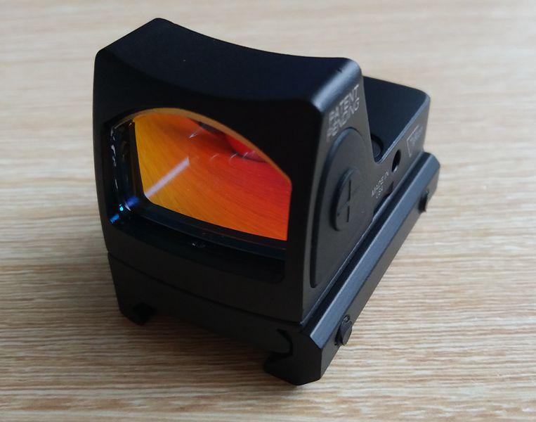 Coffret cadeau Mini Réglable led RMR viseur point rouge Airsoft Fusils de Chasse Avec Trijicon Style Mini-miroir Holographique Red Dot Portée