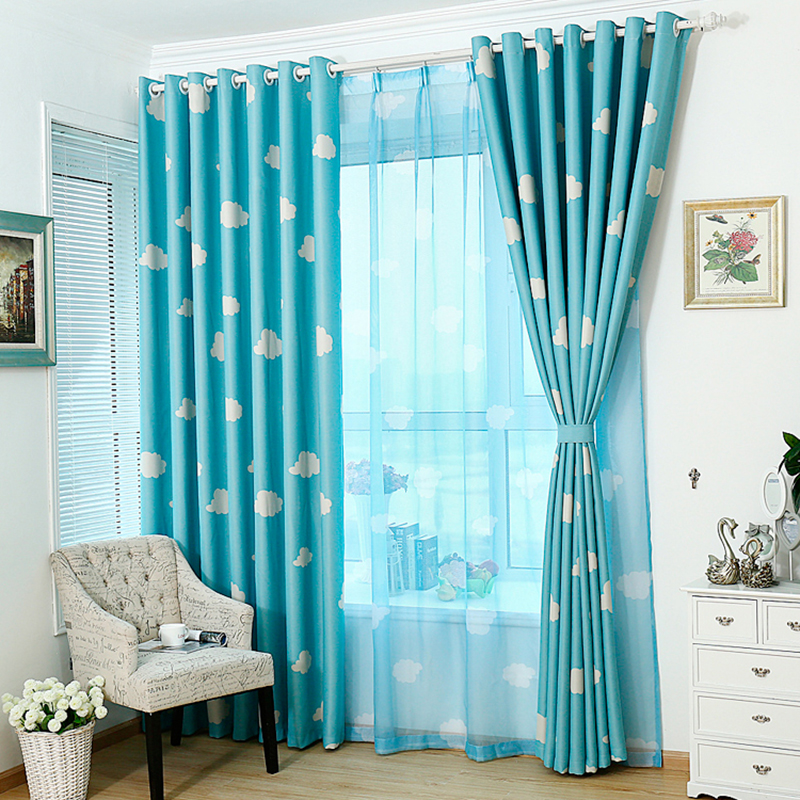 Living Room Window Curtain Cute Tulle Pastoral Drapes Voile Sheer Cloud Curtains AA In From Home Garden On Aliexpress