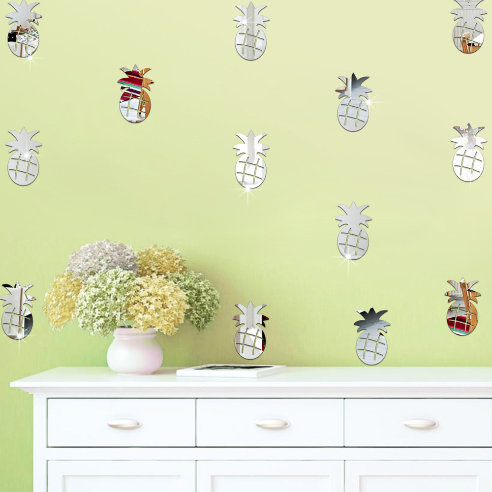 3D Pineapple Room Decoration Wall Stickers Butterfly Fridge Home ...