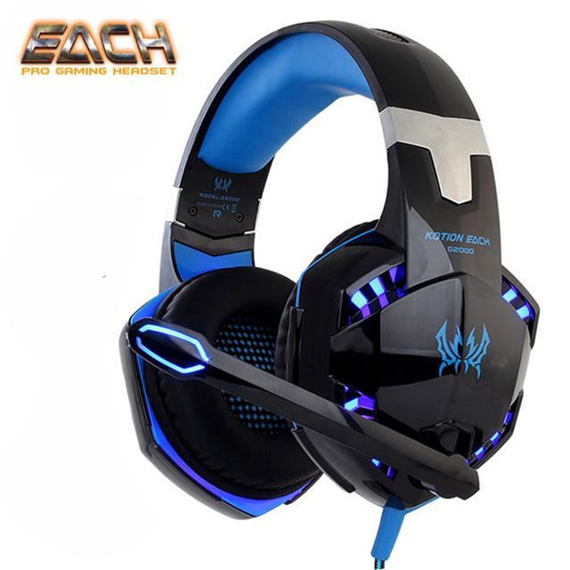 KOTION EACH Earphone Gaming Headphones With Microphone Stereo Headset Gamer Headphone  For Computer Earphones Big Gaming Headset