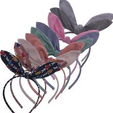 Bunny Girl Fabric bow Hairbands Rabbit ears Headbands Hair hoop Boutique tiara bows Accessories Headwear