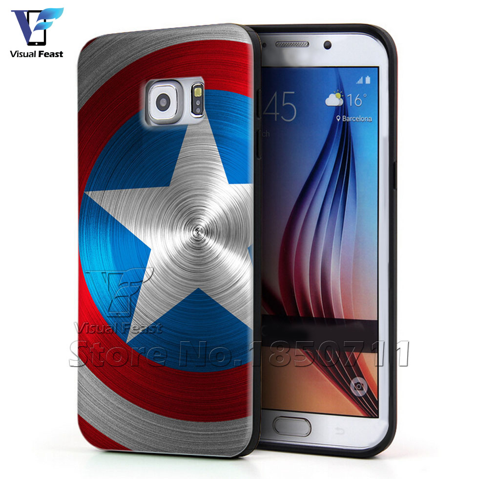 buy popular 97757 aaa07 US $11.99 |Captain America Phone Cover The Avengers Case Hybird TPUPC For  Samsung Galaxy S6 Edge+ Plus Phone Case Retail and wholesale on ...