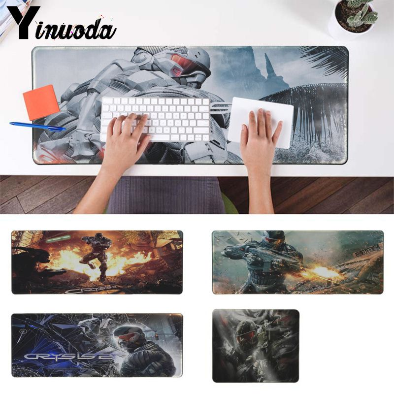 Yinuoda Your Own Mats crysis  Rubber PC Computer Gaming mousepad Laptop Gaming Lockedge Mice Mousepad Keyboard Pad